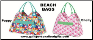 Personalized Beach Bags in Poppy Design