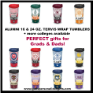 ALUMNI Collegiate Tervis 16 and 24 oz. Wrap Tumblers