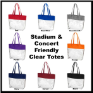 Personalized Stadium & Concert Friendly Clear Totes