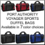Port Authority Sports Duffel Bags in 7 Color Choices