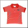 GA Bulldogs Little Boys' Red and White Stripe Golf Shirts