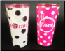 MeMe 16 oz. White with Black Dots and Pink with White Dots Signature Tumblers