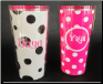 Yaya White with Black Polka Dots and Pink with White Polka Dots 16 oz. Signature Tumblers