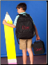 Personalized Solid Black Backpack-Lunch Box-Gym Bag
