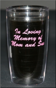 Personalized Tervis Tumblers,Mugs, Water Bottles with Script Font