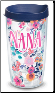 NANA Floral 16 oz. Tervis WRAP Tumblers with lids