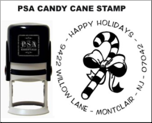 PSA Candy Cane Personalized Stamps