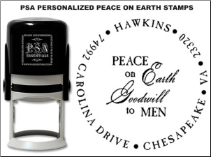 PSA Personalized Peace on Earth Goodwill to Men Stamps
