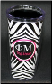 Phi Mu and Kappa Delta Sororities Big and Little Sister Black and White Zebra Wrap Tumblers by Signature Tumblers