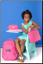 Personalized Solid PInk Backpacks and Gym Bags