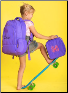 Personalized Solid Purple Backpack-Lunch Box-Gym Bag