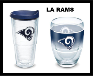 NFL LA Rams Tervis Tumblers and Mugs and Wraps and Water Bottles