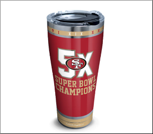 (2) NFL SF 49ers Tervis Tumblers Mugs Wraps and Water Bottles