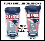 NFL New England Patriots Tervis Tumblers and Mugs and Wrap Tumblers and Water Bottles