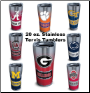 STAINLESS 20 OZ. COLLEGIATE TERVIS TUMBLERS