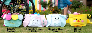 (3) Personalized Easter Buckets for Children - 4 Designs