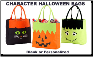 Personalized Character Halloween Totes