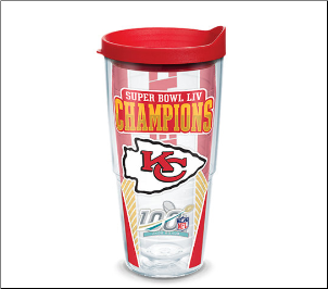 (1) NFL Kansas City Chiefs Tervis Tumblers Mugs Wraps Water Bottles