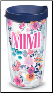 MIMI Floral 16 oz. Tervis WRAP Tumblers with lids