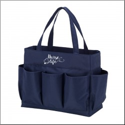 Personalized Nurse Life Navy Carry All Bags with 7 Pockets