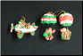 Set of 3 Santa Aviation Christmas Ornaments