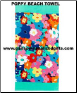 Personalized Beach Towels in Poppy Design